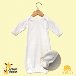 Un-stitched Side Comfortable Baby Gown - EASY Embroidery