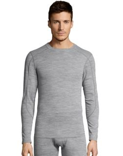 Men's thermal crewneck shirt