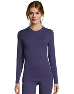 Women's long sleeve thermal crewneck top