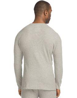 Men's black thermal long sleeve