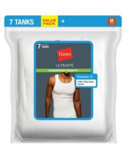 Hanes Classics Mens White A-Shirts - SingletsP7