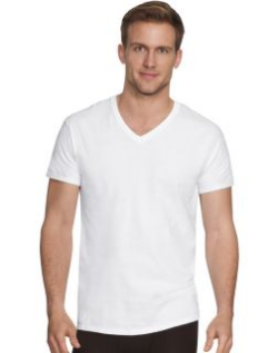 Men's V-neck undershirt